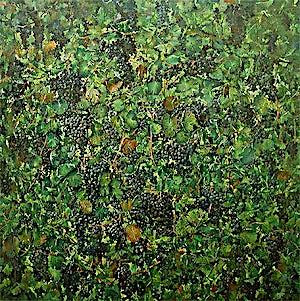 Thor Furulund, Kongens druer (Penedes), 2006, 150 x 150 cm