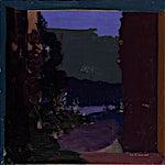 Tone Indrebø: Mot elven, 2014, 60 x 60 cm