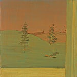 Tone Indrebø: Ettermiddag, 2003, 70 x 70 cm