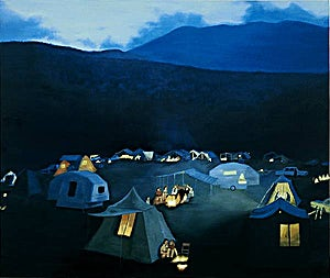 Vibeke Bärbel Slyngstad: Snug in the New Hampshire's hills, 2001, 110 x 140 cm
