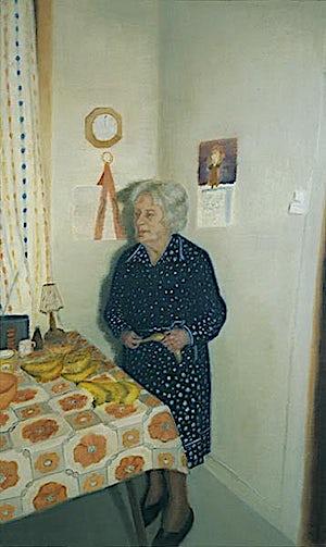 Vibeke Bärbel Slyngstad, Laura & kjøkken, 2000, 125 x 75 cm